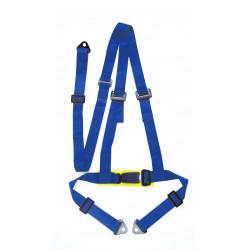 """3 bodové bezpečnostné pásy 2"""" (50mm), modré"""