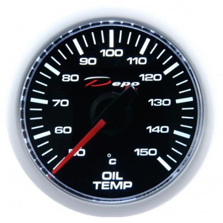 Budíky DEPO Night glow séria 52mm Budík DEPO racing Teplota oleja - Night glow séria | race-shop.sk