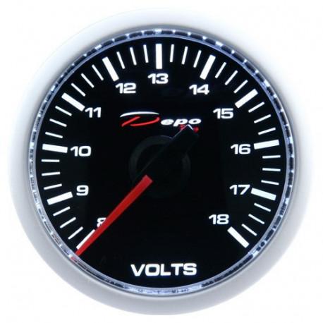 Budíky DEPO Night glow séria 52mm Budík DEPO racing Dobíjanie (voltmeter) - Night glow séria | race-shop.sk