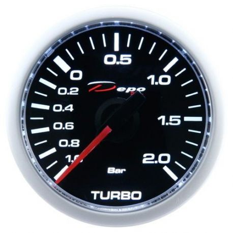 Budíky DEPO Night glow séria 52mm Budík DEPO racing Tlak turba mechanický - Night glow séria | race-shop.sk