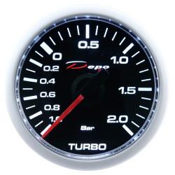 Budík DEPO racing Tlak turba elektrický - Night glow séria 2BAR