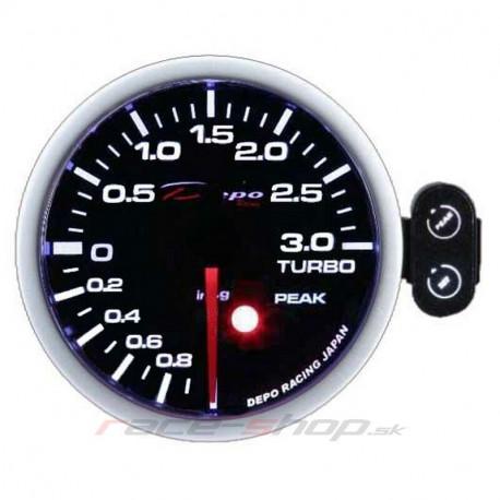 Budíky DEPO PK séria 52mm Programovateľný Budík DEPO racing Tlak turba -1 až 3bar | race-shop.sk