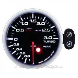 Programovateľný Budík DEPO racing Tlak turba elektrický -1 až 2bar