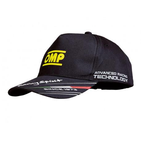 Čiapky a šiltovky Šiltovka OMP racing spirit čierna | race-shop.sk