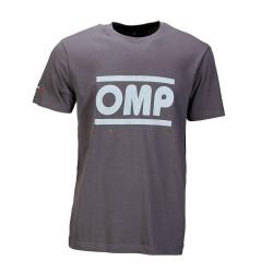 Tričko OMP racing spirit sivé