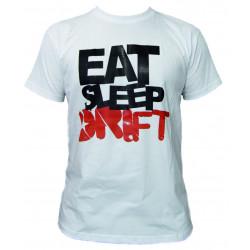 Tričko RACES Eat Sleep Drift biele