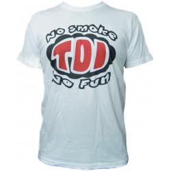 Races rövid ujjú (T-Shirt) No smoke no fun fehér