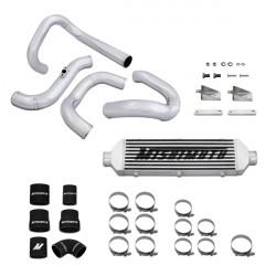 Závodný intercooler MISHIMOTO kit - 2010+ Hyundai Genesis Turbo Intercooler & sada rúr, strieborny