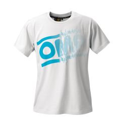 OMP striped logo rövid ujjú (T-Shirt) fehér