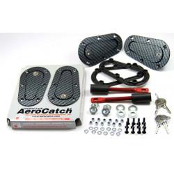 Aerodynamické úchyty kapoty Aerocatch, uzamykateľné, carbon look