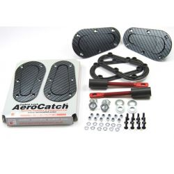 Aerodynamické úchyty kapoty Aerocatch T120 séria, carbon look