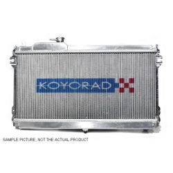 Hliníkový závodný chladič Koyorad pre Mazda RX-7, 91.10~