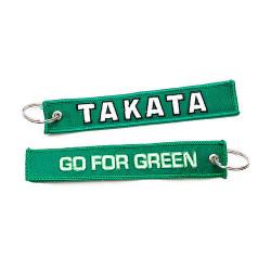 Kulcstartó Takata go for green zöld