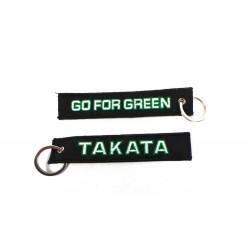 Kľúčenka Takata go for green čierna