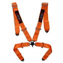"""4 bodové bezpečnostné pásy RACES 3"""" (76mm), oranžové"""