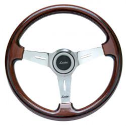 Športový volant Luisi Mugello Classico II, 370mm, mahagón, bez odsadenia