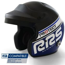 Prilba RRS Protect JET s FIA 8859-2015, Hans, modrá