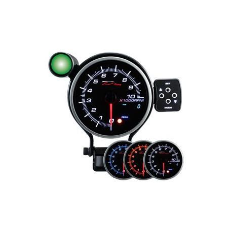 Prídavné ukazovatele nad 80mm Programovateľný prídavný otáčkomer dual view DEPO 95mm - benzín | race-shop.sk