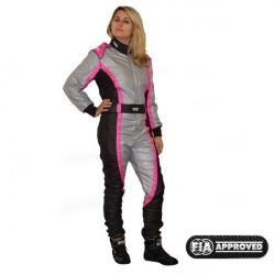 FIA Kombinéza RRS EVO Victory Pink / Grey