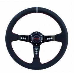 3 ramenný volant RACES Turismo, 350mm, EKO koža, 90mm odsadenie
