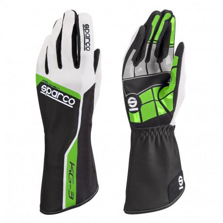 Rukavice Rukavice Sparco Track KG-3 (vnútorné šitie) zeleno/biela | race-shop.sk