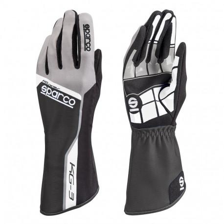 Rukavice Rukavice Sparco Track KG-3 (vnútorné šitie) čierno/šedá | race-shop.sk