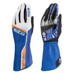 Rukavice Sparco Track KG-3 (vnútorné šitie) modro/biela