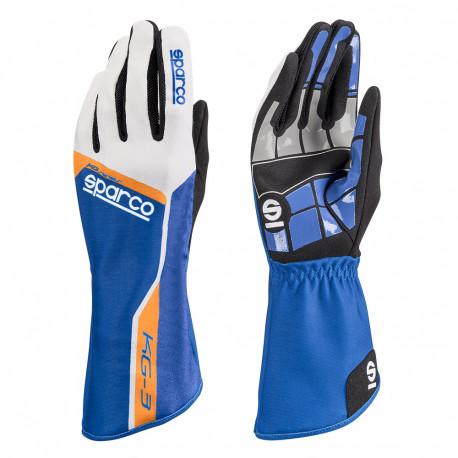 Rukavice Rukavice Sparco Track KG-3 (vnútorné šitie) modro/biela | race-shop.sk