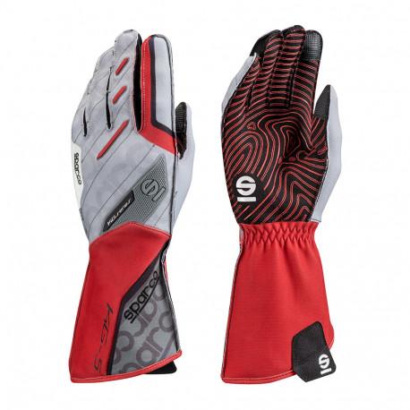 Rukavice Rukavice Sparco Motion KG-5 (vonkajšie šitie) bielo/červená | race-shop.sk