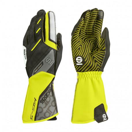 Rukavice Rukavice Sparco Motion KG-5 (vonkajšie šitie) čierno/žltá | race-shop.sk