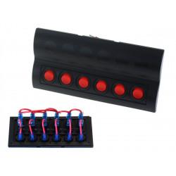 Vodotesný panel so 6 vypínačmi (IP68)