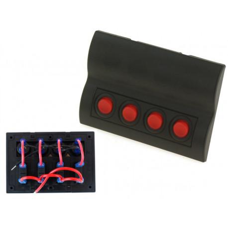 Štartovacie panely Vodotesný panel so 4 vypínačmi (IP68) | race-shop.sk