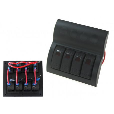 Štartovacie panely Vodotesný panel so 4 vypínačmi Carling Rocker (IP68) | race-shop.sk