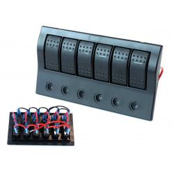 Vízálló 6x panel kapcsolók Carling Rocker (IP68)