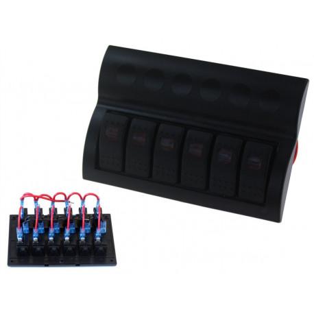 Štartovacie panely Vodotesný panel so 6 vypínačmi Carling Rocker (IP68) | race-shop.sk