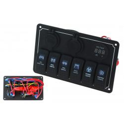 Vízálló OFF ROAD 6x panel kapcsolók Carling Rocker (IP68)