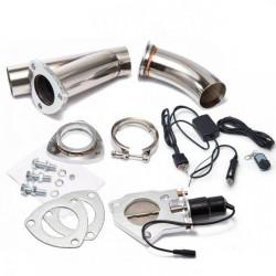 Elektronická výfuková klapka V-band s diaľkovým ovládačom a vypínačom