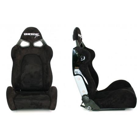 Športové sedačky Bez FIA homologizácie polohovateľné Športová sedačka CUGA Bride style čierny semiš | race-shop.sk