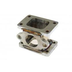 Redukčný adaptér na turbo z T2/T25 na T2/T25 s výstupom na ext. wastegate (38mm), nerez