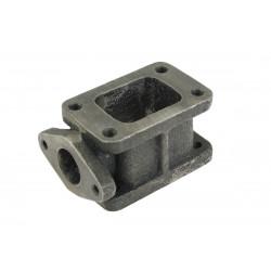 Redukčný adaptér na turbo z T3 na T3 s výstupom na ext. wastegate (38mm), liatina