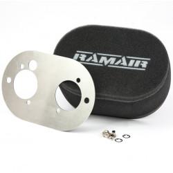 Dvojitý športový penový filter Ramair na karburátory Weber DCOE 45/48 a Dellorto DHLA 45/48