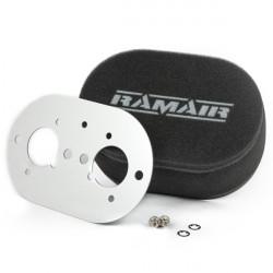 Dvojitý športový penový filter Ramair na karburátory Weber 40 IDF
