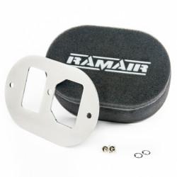 Dvojitý športový penový filter Ramair na karburátory GM Varajet II