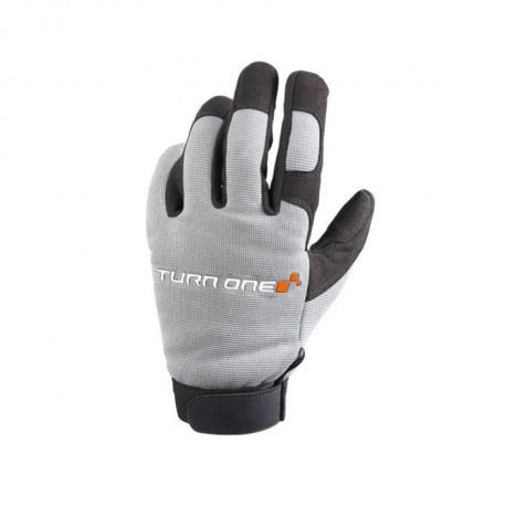 Ochranné rukavice - mechanik Rukavice Turn one Mecano sivé | race-shop.sk