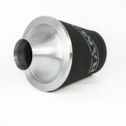 Univerzálny športový vzduchový filter Ramair s ALU hrdlom (čierna/ strieborná)