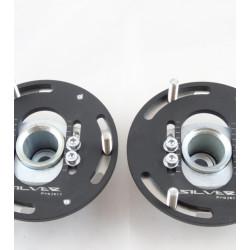 Horné nastaviteľné uloženia tlmičov Silver Project 3D pre BMW - predné