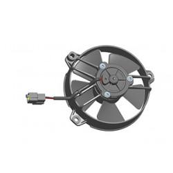 Univerzálny elektrický ventilátor SPAL 130mm - tlačný, 24V
