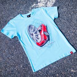 T-shirt JR-Wheels JR-11 Turquoise