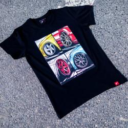 Tričko JR-Wheels MIX čierne