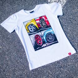 Tričko JR-Wheels MIX biele